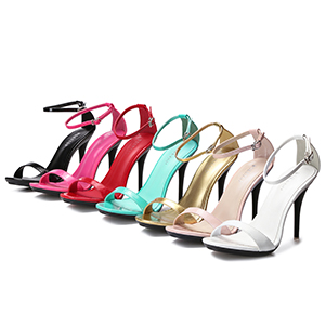 Women's Stiletto Sandals Open Toe Sexy Dress Ankle Strap Heeled Pumps Elegant Wedding Party