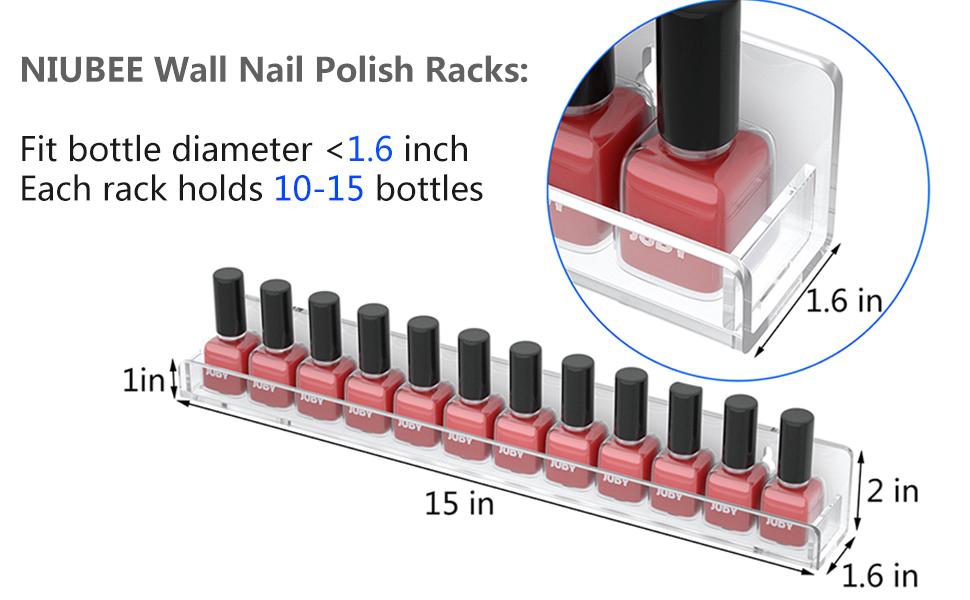clear nail polish organizer wall mounted