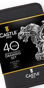 40 piece drawing sketching set