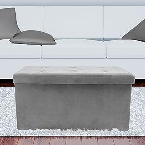 sorbus storage bench ottoman