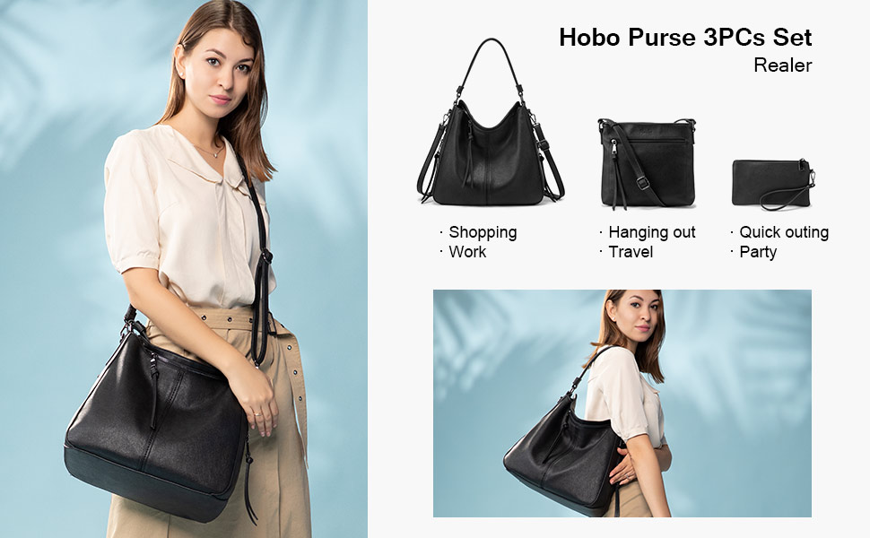 New Womens Large Dual Compartment with Tassle Handbag Tote Hobo Shoulder Bag
