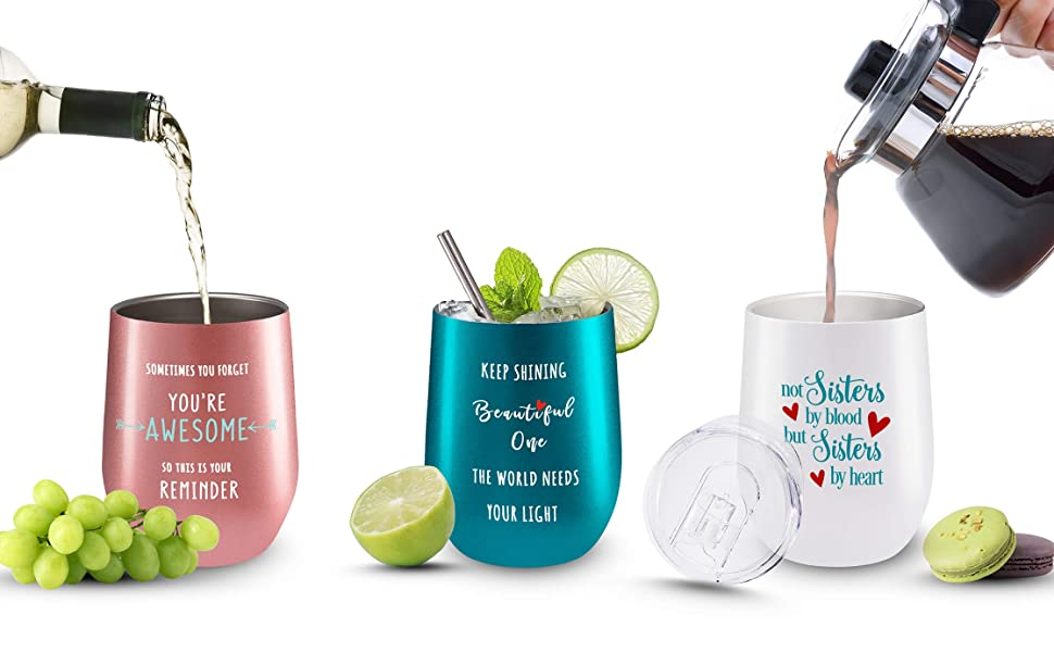 inspirational gifts for women stainless steel double walled tumblers for hot and cold beverages
