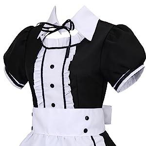 Plumeau Français Maid Halloween Fancy Dress Costume Prop