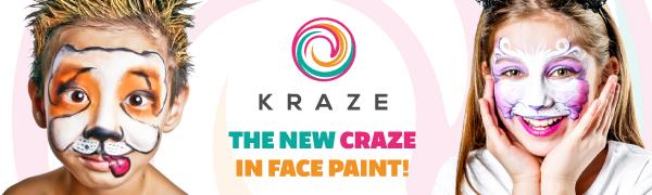 Kraze FX face paint split cake