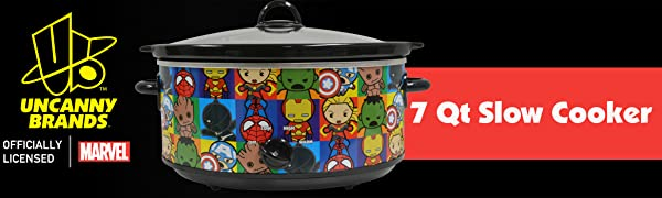Marvel 7qt Slow Cooker Uncanny Brands