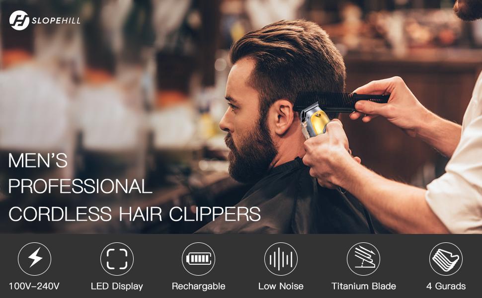 Cordless men hair clipper