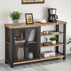 Wine bar cabinet sideboard buffet console table
