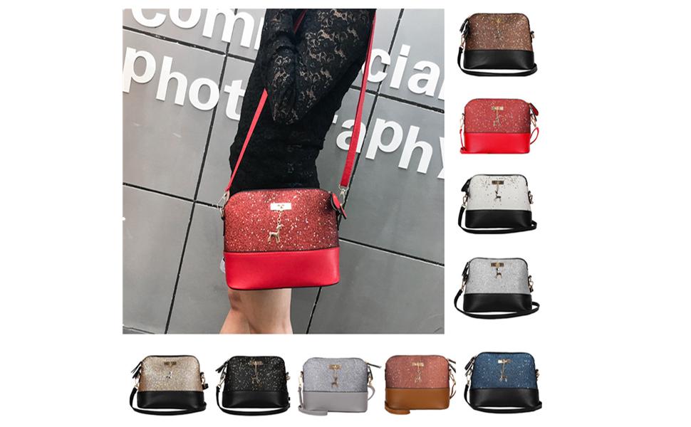 Handtasche Damen Btruely Mädchen Messenger Crossbody Vintage Tasche Damen Kleines Shell Leder
