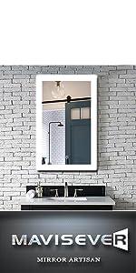 mavisever 24 x 36 inch led mirrors for bathroom wall mounted backlit vanity mordern lighted mirror