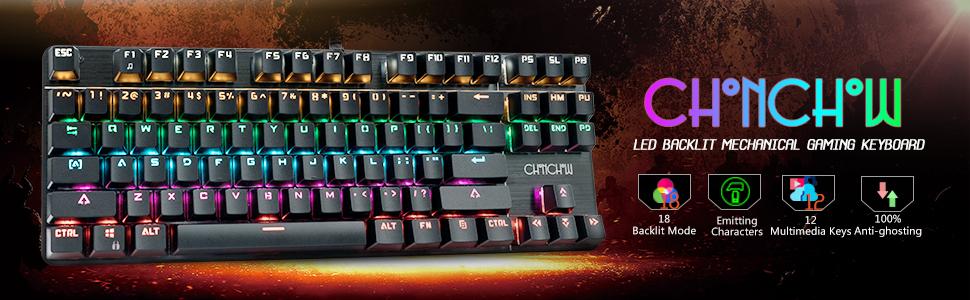 LED Backlit Rainbow Gaming Keyboard
