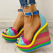 blue platform sandals for summer