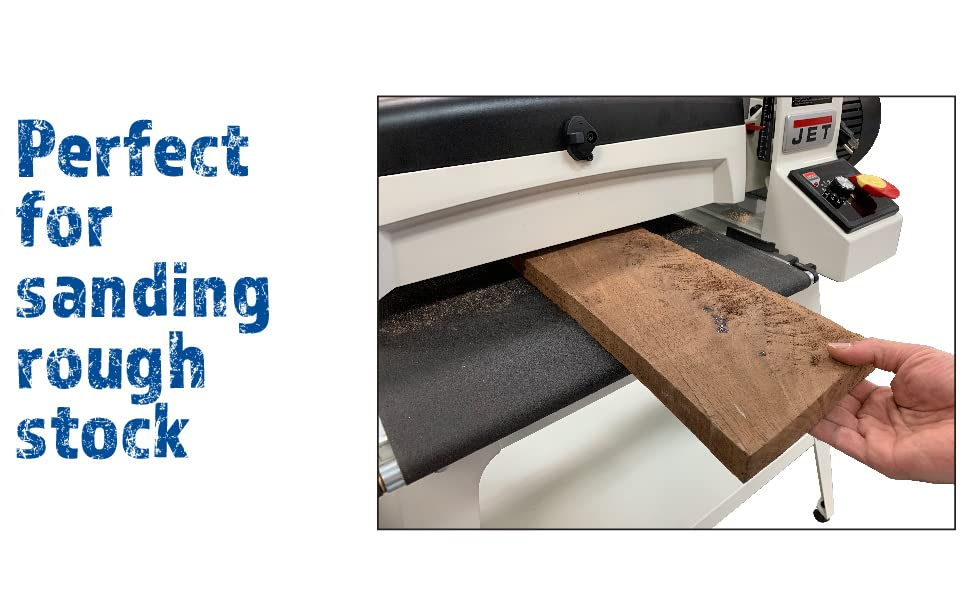 SUPERMAX TOOLS Drum Sander with Stand, Built-in Digital Read Out, Patented Quick Lever Adjustment