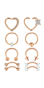 Anicina Curved Barbell Eyebrow Rings Piercing Stainless Steel Daith Rook Earring Piercing Body Jewlery