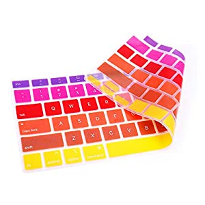 Rainbow Purple Yellow keyboard covers for macbook A2179