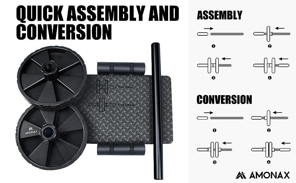 Enkel montering, knämatta, stålstänger. Monteringsinstruktioner låda, platt paket
