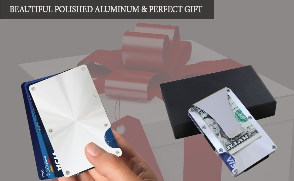 Minimalist Slim Aluminum Metal Wallet – Business Credit Card Holder slim rfid men ridge