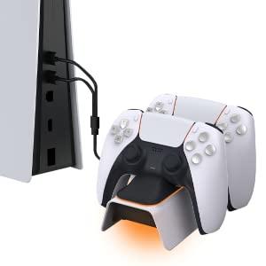 controlador PS5, estação base Playstation 5, para gamepad sem fio Sony DualSense PS5, branco