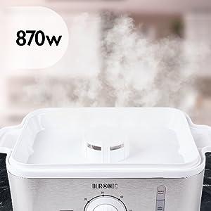 Duronic FS87 Cuiseur vapeur électrique 870W à 3 niveaux