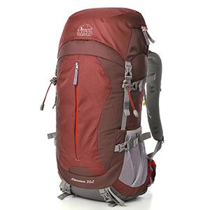 Aveler 50L Unisex Lightweight Nylon High Performance Internal Frame Backpack with Rain Cover