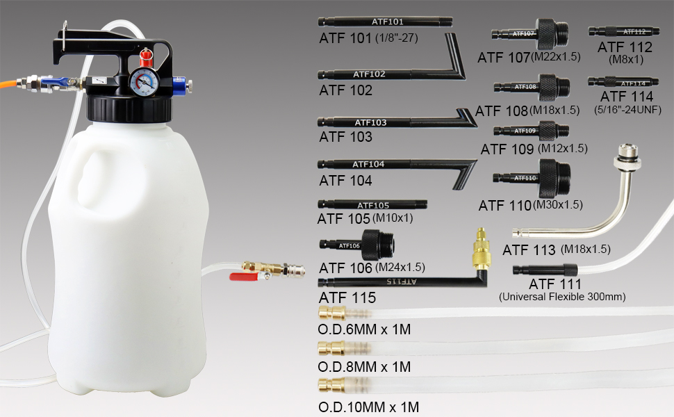 Pneumatic Fluid Extractor and Dispenser Tool