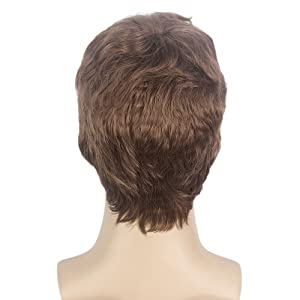 Supertall s Brown Wig for Hair Accessory Fancy Dress