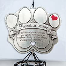 pawprints left by you windchime and poem, Teri Harrison, pet sympathy gift