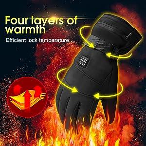 hand warmers heated gloves