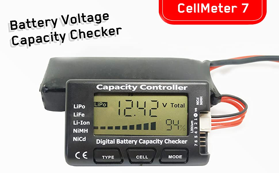 rc battery volatage checker tester