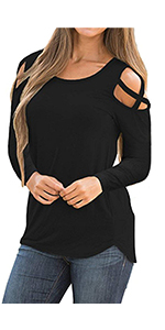 cold shoulder shirts for women sexy tops for women long sleeve shirt for women