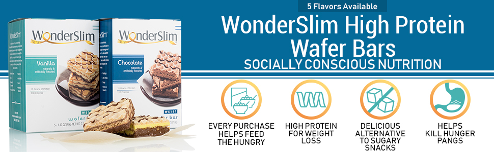 wonderslim high protein wafer bars