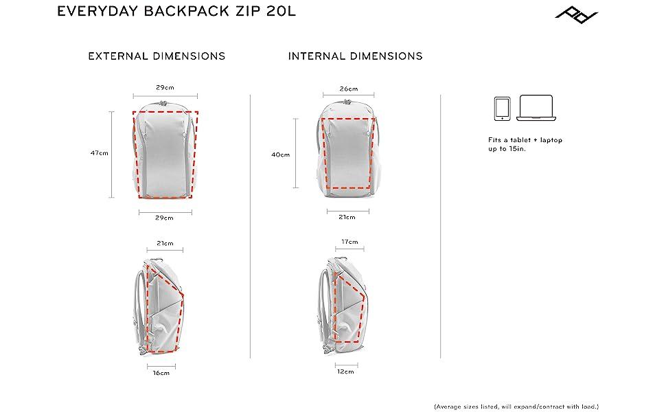 20L Backpack Zip