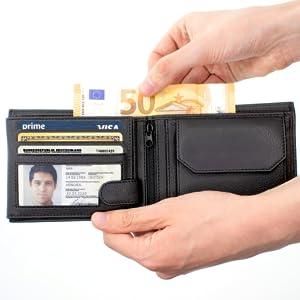 RFID Geldbörse Herren schwarz