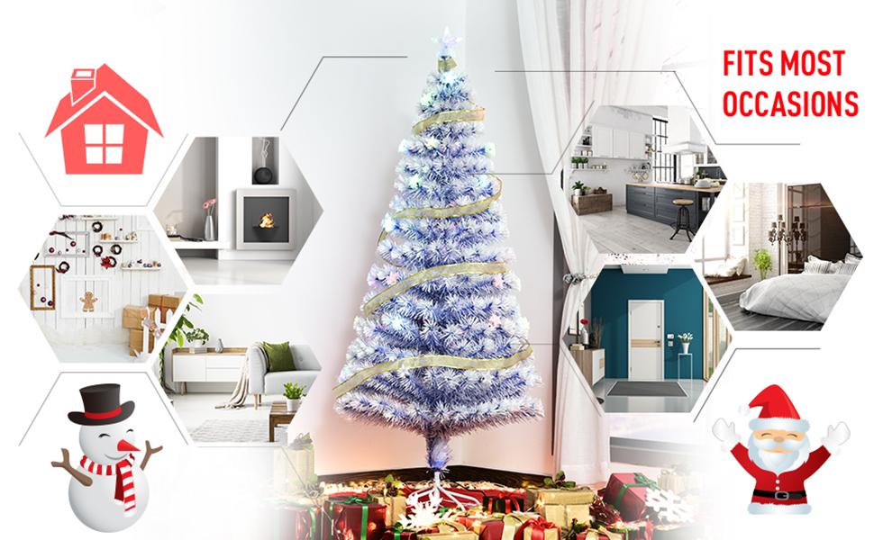 Branches Krampus Santa Presents Winter Charming Cozy Family Dense Full Home Decor Traditional