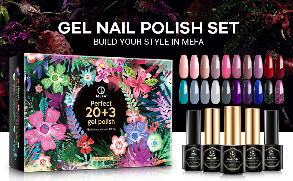 MEFA Gel Nail Polish Set