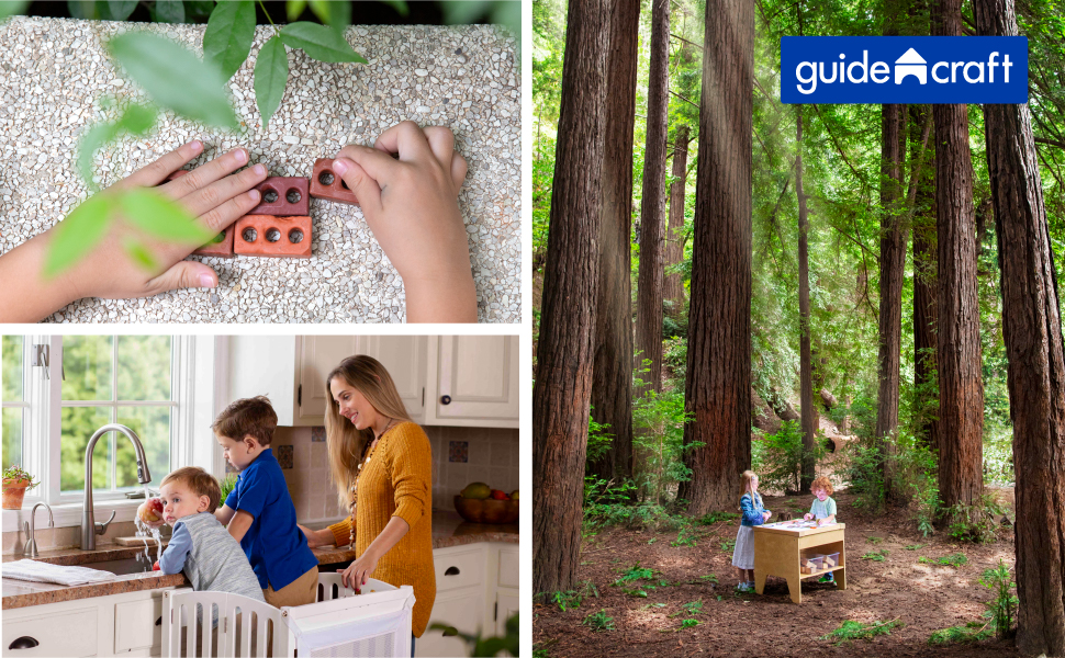 Guidecraft, wood, natural toys, outdoor hollow blocks, kids educational toys,