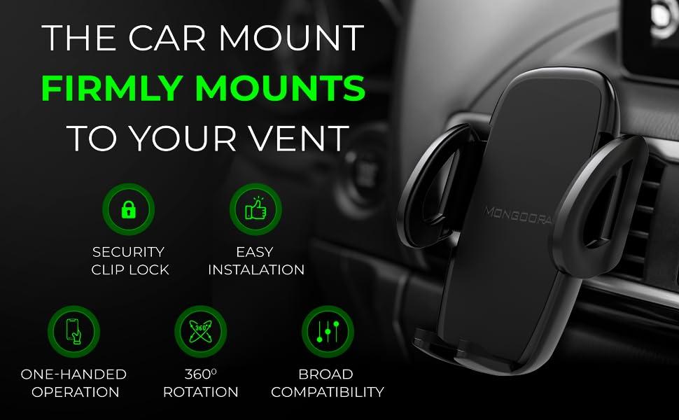 Air vent car mount