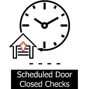 scheduled door close automatic door security auto garage door close night time close close dusk