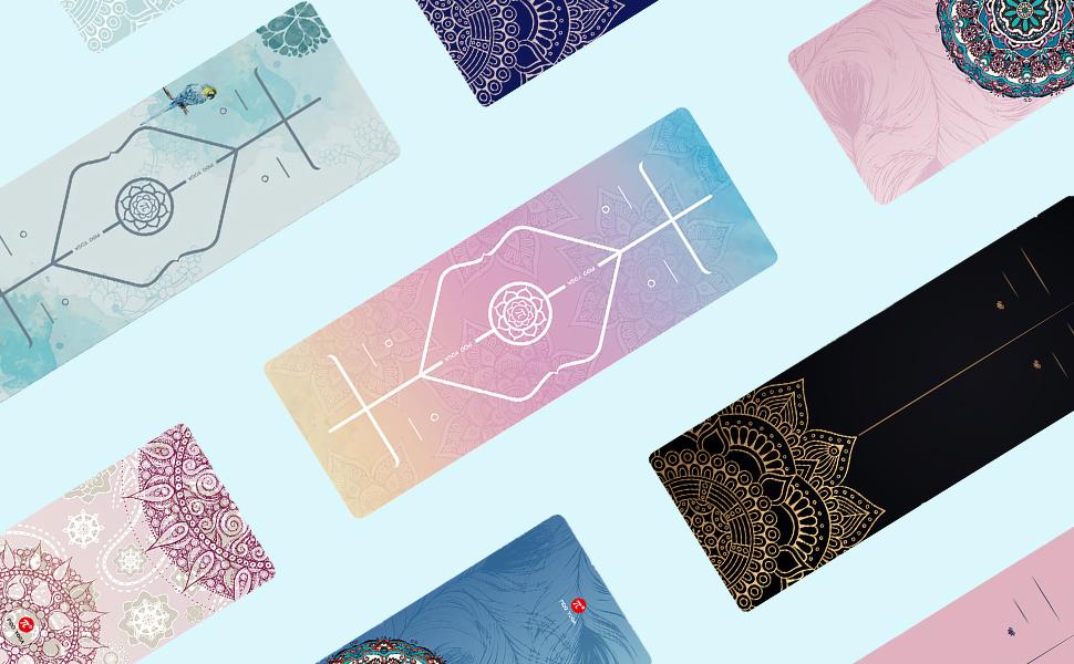 printed yoga mats