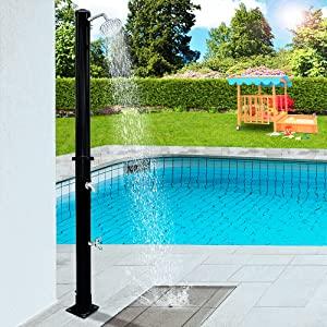 Monzana ducha solar 20 litros máx. 60°C plástico resistente a rayos UV Ducha de jardín piscina exterior: Amazon.es: Bricolaje y herramientas