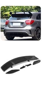 Benz A Class A180 A200 A220 A250 A260 A45 AMG 2013-2018 Carbon Rear Window Spoiler Top Lip Tail