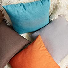 Outdoor Solid Waterproof Throw Pillow Cover