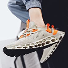 Zapatillas de Running Hombre Mujer Zapatillas de Tenis Zapatillas de Deporte para Caminar Transpirable Athletic Sport Fushiton Zapatillas de Deporte para Hombre