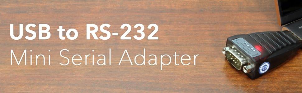 ftdi rs232 serial adapter usb usb-a a