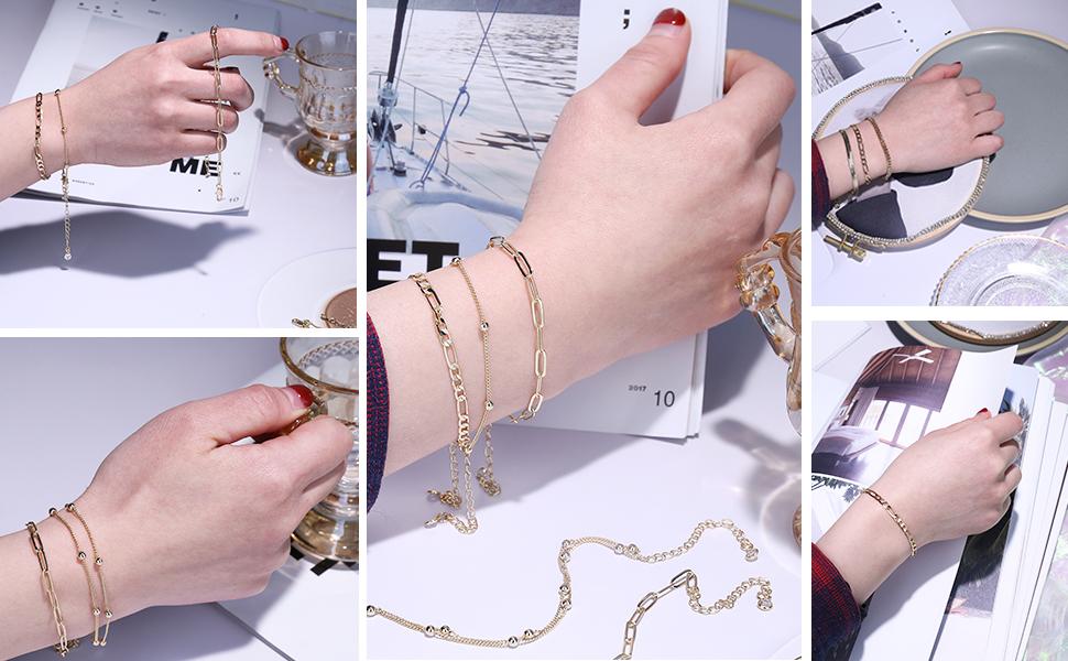 chain link bracelet for women