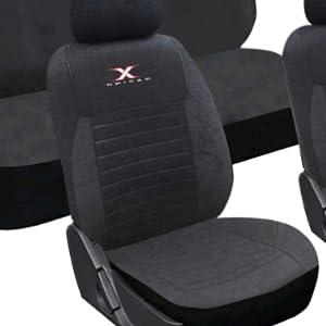 Cubiertas De Asiento De Coche Apto Nissan Juke Conjunto Completo-Negro//Plata