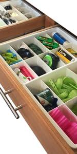 Adjustable kitchen drawer dividers