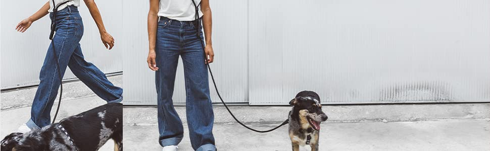 Hands-Free Leash - Around your waist or across your body