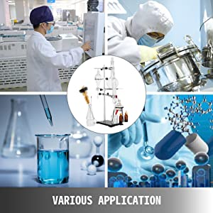 500ML Distillation Apparatus Lab Glassware Kit