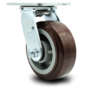 Service Caster, Polyurethane on Polyolefin wheel