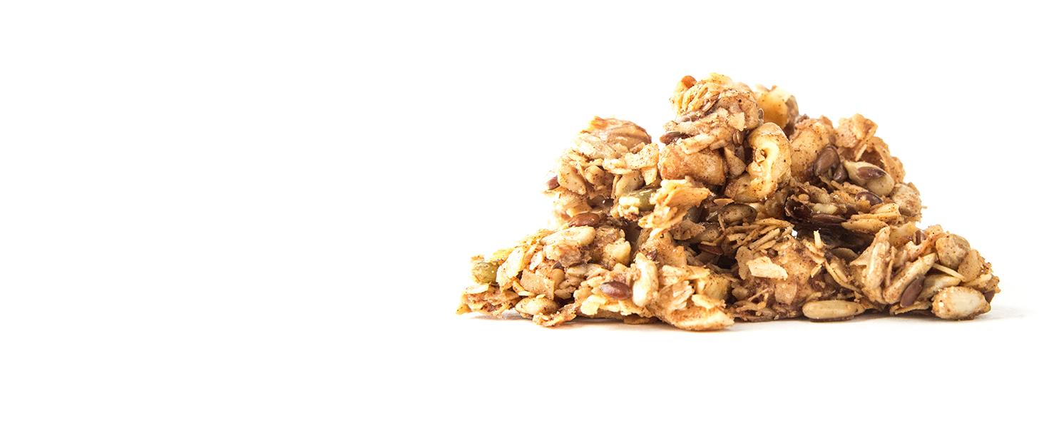 maple cinnamon keto granola